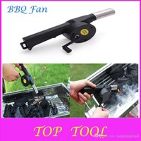 Wholesale Hot Sale BBQ Fan Manual Blower Cranked Outdoor Picnic Camping Fan Air Blower For Barbecue Fire Bellows w Hand Crank DX711