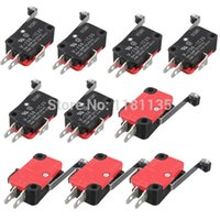 Wholesale 10Pcs Microswitch Long Lever AC V A HV C25 SPDT Roller Lever Micro Switch