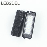 beetle license plate - Xenon White SMD Number Plate Lamps LED License Plate Lights For Volkswagen VW Golf4 Eos New Beetle Passat Polo sets