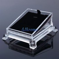 Wholesale Trasparent Acrylic Jewelry Bracelet Watch Display Plate Show Holder Pallte Tray Rack SBIC