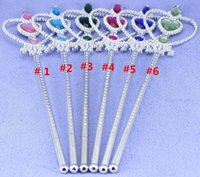 Wholesale Colors Princess Elsa Anna Magic Wand Cosplay Birthday Party Accessories