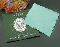 Wholesale 200pcs silver polish cleaning polishing cloth with package silver cleaning cloth wiping cloth of silver jewelry suede maintenanc