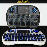 al por mayor tv remote control-Rii I8 inteligente Fly Air ratón remoto de luz de fondo del teclado inalámbrico de 2,4 GHz de control remoto Bluetooth Touchpad para la caja S905X S912 TV Android X96 T95