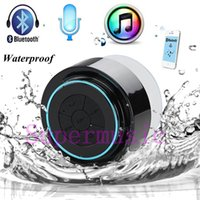Wholesale High Quality IPX7 Outdoor Portable Waterproof Wireless Bluetooth Speaker Suction Cup Handsfree MIC Voice Box For iphone4S S ipad PC phone