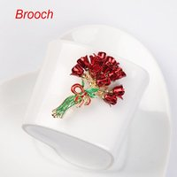Wholesale Brooches European Korean style rose red flowers brooches for presents for girlfriends vintage brooch decorative accessories