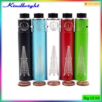 american made products - Vaping Product Rig V2 kit Mod Roughneck RDA American Made Magnets button Battery Tube E Cigarette vs SMPL Mutation X V3 for