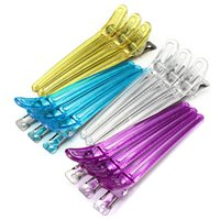 beauty salon packages - 12PCS Package Alloy Plastic Professional Hairdressing Cutting Salon Styling Section Hair Grip Clips Beauty DIY Tool Wholsale