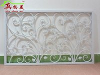 Wholesale wrought iron fence stair armrest wave corridor railing guardrail attic window balcony guardrail indoor wall column
