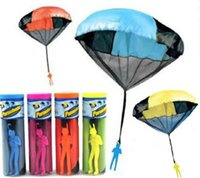 Wholesale 20 quot Toy Parachute Launcher Sky Diver With Figure Soldier Kids Children Outdoor Sport Play