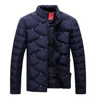 button skull - Winter Jacket Men brand New Men s Coats Zipper Mens Jacket Casual Thick Outwear For Men Plus Size Clothing Male P830