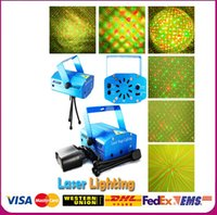 Wholesale DHL Free V LED Mini Stage Xmas Party Laser Lighting Holographic lamps strobe R G DJ equipment Disco Pub Light effect Show Projector