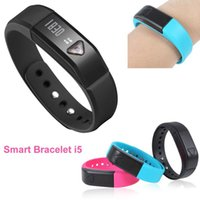 vibrating bracelet - New Original Bluetooth Bracelet I5 healthy Smartwatch wristhand watch smart watch Clock Vibrating Pedometer Mileage Sleep mode Calorie DHL