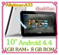 Wholesale 30pcs inch Quad core GHz Allwinner A33 Android tablet pc Capacitive GB GB ROM Dual Camera HDMI Bluetooth USB OTG DD01