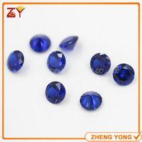 Wholesale 4 mm Round Shape Brilliant Cut Loose Burman Blue Synthetic Spinel Gemstone