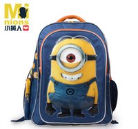 Wholesale 2016 New arrival Despicable me school bags Minions animals school bags cartoon alleviate wear resisting children backpacks ETB21