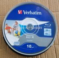 Wholesale 10 Pack Verbatim BD R X GB BDR Disc Printable Blue ray BD R x speed Blank disc Verbatim BD R