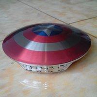 america speaker - Multifunction metal UFO bluetooth speakers Captain America Shield Wireless Portable speaker subwoofers bluetooth support handsfree MIC TF FM