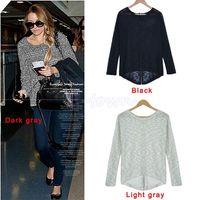 batwing knitwear - Women Brand Autumn Batwing Loose pullover Large Plus Size Knitwear Long Sleeve Tops Casual Sweater Gray M L XL XXL