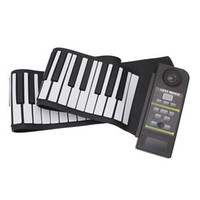 Wholesale USB Electronic Music Silicon Roll Up Standard Piano Keys Soft Keyboard Organ Midi Out toys with Loud Speaker