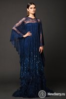 Cheap Muslim Royal blue Lace Evening Dresses With Feathers Sequined Beaded Shiny Arabic Evening Gowns Sweep Train Wrap 2016 Prom Dresses