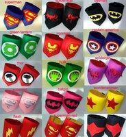 al por mayor cosplay avengers-Los niños Superhero muñeca 19design elegir superhéroe wristband Superman Batman Spiderman avengers cosplay armguard brazo brazales niño regalo