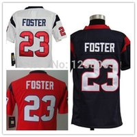 arian foster - Factory Outlet The best Christmas gift Arian Foster White Blue Red Youth Authentic Football Jerseys Size S XL Mix order