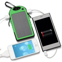 Wholesale Solar Charger mAh Cellphone External Battery Power Bank Portable Waterproof Solar Charger For iPhone s Plus Galaxy S6 Edge Note
