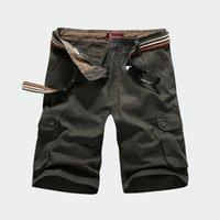 baggy jeans shorts - pantalones cortos men casual Sport joggers baggy denim shorts outdoor Army jeans Multi pocket cargo shorts plus size XL