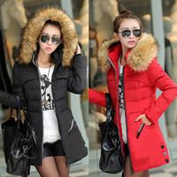 Wholesale Black Hot Womens Belt Hooded Duck Down Winter Jacket Puffer Long Parka Coat
