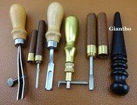 Wholesale 206 Leather Toosl Leathercraft Kit Edger Slicker Creaser Beveler Skiving Tool A