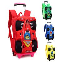 Cheap Wheeled Bags Children Trolley School Bag Best Nylon Women 3D car school bags