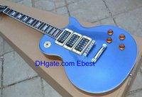 blue guitar - Custom shop Bright blue Guitar Blue metallic Chinese Guitars