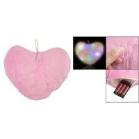 amico led - EDFY Amico Embroidered LOVE Color Changing LED Light Heart Toss Throw Pillow Pink