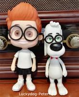 Wholesale Mr Peabody Sherman Action Figures Mr Peabody Sherman Dolls PVC ACGN figure Toys Brinquedos Anime CM
