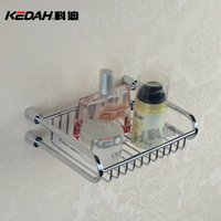 Wholesale Cody bathroom hardware bathroom full copper monolayer storage basket square basket factory direct E102
