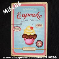 bakery items - Mike86 Eating Well Feeling Good Cupcake Bakery Retro Metal Plaque Room Decor Old Wall art Craft CM Mix Items B