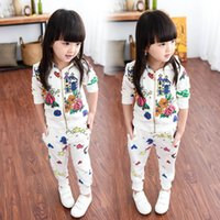 kids sweat suits - Children Clothing Set Baby Girls Sportsuit Set Kids Suits Baby Sweat Suit Baby Girls Flower Clothes Hooded Pants Two Piece Clothing Set