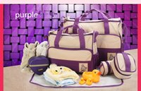 Wholesale Factory direct five sets of multi function large capacity bag shoulder diagonal fashion pregnant mother Mummy Mummy bags package