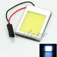 Wholesale 8W Aluminum T10 Dome Festoon Car Interior License Plate COB LED Lamps Light