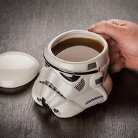 plastic cup with lid - Star Wars coffee mugs Darth Vader Stromtrooper Iron Man D Solid plastic water cup coffee cup Kids Christmas Gift