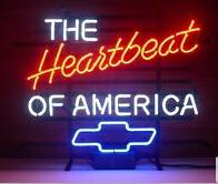 america beer - Hot Neon Sign Commercial neon sign country New The Heart of America Chevrolets Real Glass Neon Light Beer Bar Sign quot X14 quot