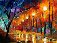 abstract house - Wholesales canvas painting pure hand painted orange color wall art house decoration XY