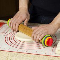adjustable rolling pin - Baking tools rainbow color adjustable rolling pin rod surface Smart rod surface wood tools export quality