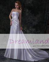 Cheap satin wedding dress Best satin wedding dress beading