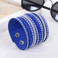 leather charm bracelet - 2015 New Products Sell Like Hot Cakes Fashion Charm Double Circle Multilayer Leather Bracelets Men Women Bracelet
