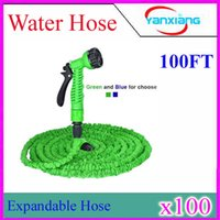 Wholesale DHL High Quality FT NEW Retractable Garden Hose Water Pipe Magic Hose Expandable and Flexible Hose ZY SG