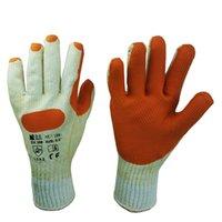 cotton working glove - 2204 Polyester cotton shell prevent work gloves