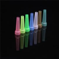 Soulton verre coloré jetable bouche bouts de la bouche 100pcs / Pack en gros plastique jetable bouche Shisha Bouche Hookah bouts MT-007