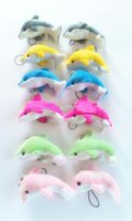 animal cell kids - New Dolphin Cell Phone Straps Keychain Stuffed Animals Plush Kid Toys