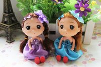Wholesale 2015 Mini Lovely girl Toy Baby Kids Princess pieces Doll Birthday gift Wedding present Mixed color